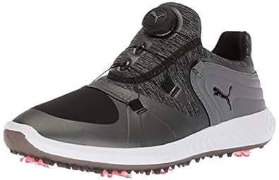 PUMA 女士 Ignite Blaze 运动飞盘高尔夫鞋 黑色/钢灰色 6