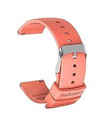 Lwsengme 智能手表硅胶图案表带 20 毫米 22 毫米,女式男式快速释放表带 适用于智能健身追踪器和非市场手表(不含追踪器)