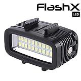 LIGHTEX 潜水灯大功率可调防水 LED 摄像灯填充夜光潜水下光防水144英尺(40米),适用于 Gopro Hero 7/6/5/5S/4/4S/3+/2/SJCAM/YI 活动摄像机
