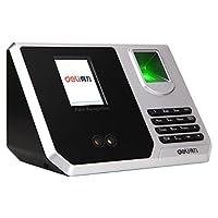 Deli 得力 3959 指纹加人脸识别考勤机 混合识别打卡机 真人语音/免软件安装