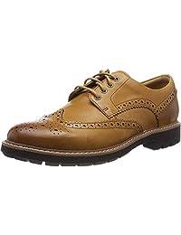 Clarks 其乐 男士布洛克烤花 商务休闲皮鞋