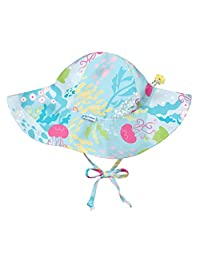 i play. Toddler Girls' Brim Sun Protection Hat Aqua Coral Reef 2T-4T
