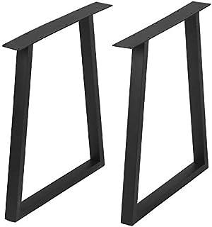 家具腿乡村装饰方形管桌腿,重型金属办公桌腿,餐桌腿,工业现代,DIY 铁艺长凳腿(数字 1)