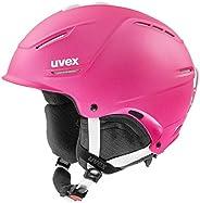 uvex 男女通用的 p1us 2.0 滑雪头盔,紫罗兰色,55-59 厘米