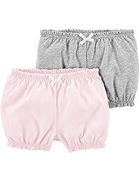Carter's 女婴 2 件装。 褶皱短裤