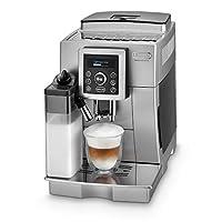 De'Longhi 德龍 ECAM 23.466.S 全自動咖啡機 帶牛奶系統,一鍵式卡布奇諾/意式濃縮(Espresso)制備,數字文本顯示,2杯功能,1.8升大水箱,銀色