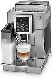 De'Longhi 德龙 ECAM 23.466.S 全自动咖啡机 带牛奶系统,一键式卡布奇诺/意式浓缩(Espresso)制备,数字文本显示,2杯功能,1.8升大水