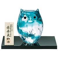 阿德利亚 玻璃 摆件 绿色 *大7.5×6.8×高9.5cm 津轻 儿童用 化妆品 日本制造 F-62126