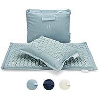 Ajna Acupressure 垫和枕头套装 - 缓解背部*和颈部*的理想选择 - 先进的*- 放松肌肉 - 免费手提包