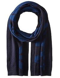 ARMANI JEANS 男式羊毛混纺 LOGO 围巾