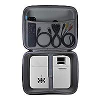 TUDIA EVA 空便携式硬质存储便携包,适用于迷你投影仪和配件[仅保护套,不含设备]