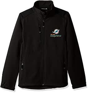 Dunbrooke 服装 NFL 迈阿密海豚队男式软壳夹克,L 码,黑色