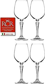 RCR Cristalleria Italiana Aria 系列 4 件水晶玻璃套装 Glamour White Wine (16 oz)