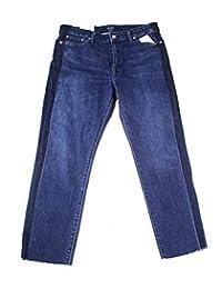 Lauren Ralph Lauren 女士中腰水洗直筒牛仔裤 蓝色 6