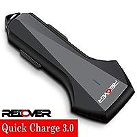REDOVER 车载充电器带快速充电 3.0,3A 智能 IC 双 USB 端口车载充电器适配器,适用于任何 iOS、Android 和所有供电的设备:iPhone X/8/7/6/Plus、Galaxy S9/8/Plus、LG 等
