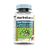 Herbaland 儿童综合维生素矿物质无糖软糖90粒/瓶 加拿大原装进口 天然 果胶 均衡营养 全面发展(包邮包税)