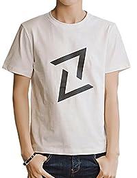 Goralon 夏季男士短袖t恤 修身圆领男生体恤打底衫韩版潮T男装半袖上衣汗衫印花T恤衫