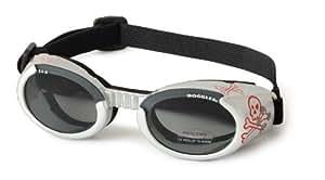 可爱狗 ILS 太阳镜防紫外线防护 EYEWEAR 所有尺寸和样式 Silver with Skull Frame, Smoke Lens XS