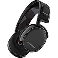 SteelSeries Arctis 7 Lag-Free Wireless Gaming Headset with DTS Headphone:X 7.1 Surround for PC PlayStation 4 VR Mac and Wired for Xbox One Android and iOS - Black