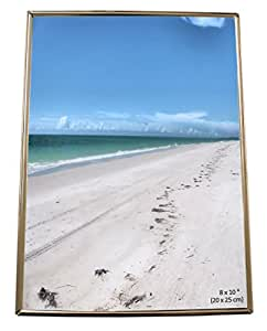 Iron Nickel Plated Shiny Silver Color Thin Edge Photo Picture Frame - Takes a photo of 8 x 10 inches (20 x 25 cm) - Landscape Or Portrait.