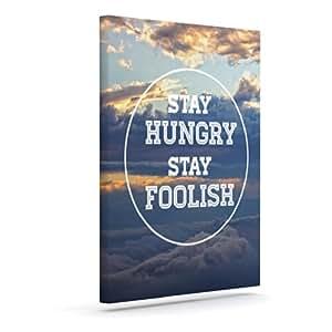 "Kess InHouse Skye Zambrana ""Stay Hungry""户外帆布墙艺术 24"" x 30"" SZ1008AAC05"