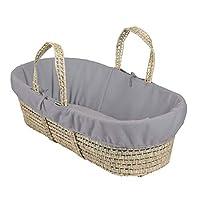 Clair de Lune 抓绒内衬,适合棕榈和柳条婴儿睡篮 - 灰色混色