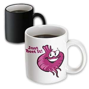 3drose dooni Designs 有趣和幽默设计–Just BEAT IT 字样趣味 beet 卡通食品幽默–马克杯 黑色/白色 11 oz
