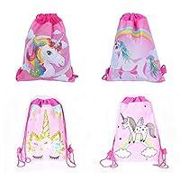 Astra 美食独角兽拉绳单肩背包散装女孩儿童(12 件装)生日糖果宝宝派对独角兽礼物(四种风格)