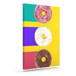 "Kess InHouse Danny Ivan""Donuts""户外帆布墙艺术 20"" x 24"" DI1040AAC04"
