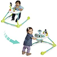 Kolcraft Tiny Steps Too 2-in-1 Infant & Baby Activity Walker - Seated or Walk-Behind, Forest Friends