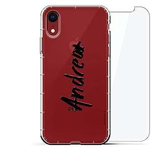 豪华设计师,3D 印花,时尚,气袋垫,360 玻璃保护膜套装手机壳 iPhone XR - 透明阿尔巴尼亚国旗LUX-I9AIR360-NMANDREW1 NAME: ANDREW, HAND-WRITTEN STYLE 透明