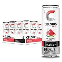 CELSIUS 气泡西瓜味饮料, 无糖, 12盎司/355毫升. 细罐装, 12罐