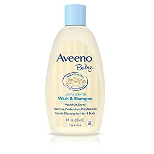 Aveeno Baby 艾惟诺 婴儿洗发&沐浴露二合一 无泪配方, 8盎司(236ml)2瓶装