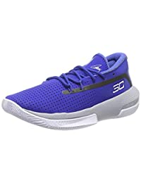 Under Armour 安德玛 中性款儿童学前SC 3ZER0 III 篮球鞋,皇家蓝 (400)/Mod 灰色,11K