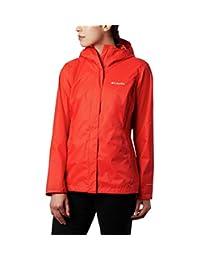 Columbia 女士 Arcadia Ii 防水透氣夾克,帶可折疊兜帽 粗橙色 Medium
