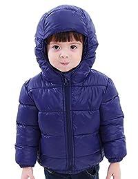 SLUBY 小童羽绒夹克舒适羽绒外套带兜帽,适合男孩 2T-6 岁