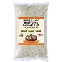 Elvissmart 喜马拉雅 白色 Basmati 米饭 自然老化 双抛光 10磅每包