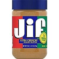 Jif 粗粒花生酱,28 盎司(约 793.8 克)(10 罐装)