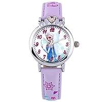 Disney 迪士尼 儿童手表女孩冰雪奇缘卡通手表女童石英手表54153PL紫色