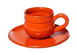 Mamma Ro Cup and Saucer, Orange
