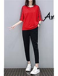 AOSENDUN 奥森盾 夏季纯棉时尚套装 短袖九分裤两件套 舒适柔软透气 女士套装 显高显瘦休闲服 FML-0529