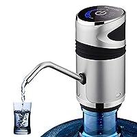 水瓶泵,USB 充电自动饮水泵便携式电动饮水器水器水瓶开关,适用于通用5加仑(约3.8升)瓶子触摸屏饮水器带儿童锁