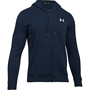 Under Armour 安德玛 男款 Rival Fitted 全拉链热身连帽衫 蓝色 (Midnight Navy), 2X-Large