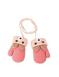 幼儿 儿童保暖冬季全指手套 婴儿厚羊毛内衬滑雪手套