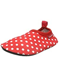 Playshoes 中性儿童防紫外线 Aqua-Slipper 圆点水鞋