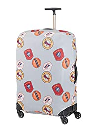 SAMSONITE Global Travel Accessories - Lycra Large Pack Cover 80 Centimeters 1 Grey (Heritage Patches)
