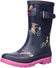 Joules 女童印花 Welly 雨靴