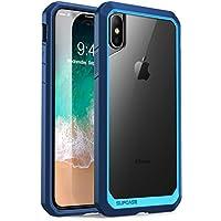 SUPCASE iPhone X 手机壳,Unicorn Beetle 系列高级混合保护霜透明手机壳适用于 Apple iPhone X 2017 蓝色/*蓝