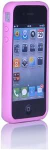 道瑞(x-doria) Iphone4保护壳/保护套 (软边双料 软胶包边设计 防止磨花屏幕和机器 底部光滑材料 防磨损 桃红色)