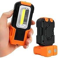TORCHSTAR LED 工作灯,超亮工作台灯,带夹子/多用途 COB 手电筒,4000K / 5000K Led Work Light Portable PYRCBWL-RWL-08